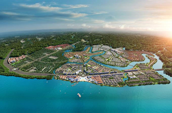 Phối cảnh Aqua City.